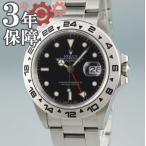 3年保証 ロレックス ROLEX エクスプローラー2 16550 R番 先端ドット メンズ 黒 GMT 自動巻 メンズ 2405010012865 中古