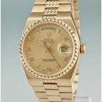 ロレックス ROLEX オイスター デイデイト 19028 K18YG無垢 9番 ピラミッド クォーツ メンズ 腕時計 ウォッチ ゴールド 中古