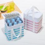 Yahoo!パラダイスクーラーバッグ(ボーダー柄) 60個以上販売 クールバッグ 保冷バッグ 保冷ランチバッグ