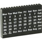 モノトーンブロックカレンダー ブラック ステーショナリー 事務用品 卓上万年カレンダー