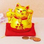 招福 金のまねき猫貯金箱 猫 置き物 貯金箱