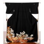 留袖 レンタル 黒留袖 レンタルフルセット8AA48 結婚式 貸衣装 着物 束ね熨斗 菊 149cm〜171cm位まで