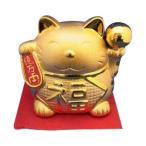 (送料無料)金色の招き猫貯金箱 大