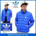 アディダス adidas ジャケット メンズ セレイテッド ダウン ブルー オリジナルス(Serrated Down JKT Blue Originals 男性用 AY9168)