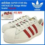 アディダス adidas スニーカー スーパースター 80s ビンテージ DX Vintage White/Scarlet オリジナルス メンズ(男性用) (45周年 B35982)