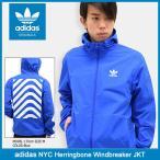 アディダス adidas ジャケット メンズ NYC ヘリンボーン ウィンドブレーカー オリジナルス(Herringbone Windbreaker JKT Originals BK0031)