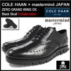 コールハーン COLE HAAN シューズ メンズ  男性用 マスターマインド・ジャパン ゼログランド ウィング オックスフォード Black Skull(C22081)