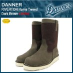ダナー Danner リバートン ハリスツイード ブーツ ダークブラウンレザー 限定(Danner DANNER D-4123T-DBR RIVERTON Harris Tweed Dark Brown Limited)