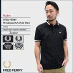 フレッドペリー FRED PERRY ポロシャツ 半袖 メンズ ピンストライプド ルーディーズ(F1572 Pinstriped S/S Polo Shirt Rudies JAPAN LIMITED)