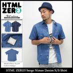 エイチティエムエル ゼロスリー HTML ZERO3 シャツ 半袖 メンズ セルジュ ニーム デニム(Serge Nimes Denim S/S Shirt トップス)
