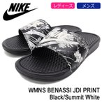 �ʥ��� NIKE ������� ��ǥ����� & ��� ������� �٥ʥå� JDI �ץ��� Black/Summit White(WMNS BENASSI JDI PRINT 618919-020)