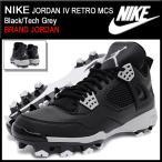 ナイキ NIKE スニーカー メンズ 男性用 ジョーダン 4 レトロ MCS Black/Tech Grey(nike JORDAN IV RETRO MCS 野球用 スパイク 807709-010)