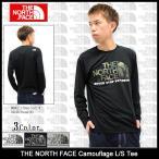 ザ ノースフェイス THE NORTH FACE Tシャツ 長袖 メンズ カモフラージュ(Camouflage L/S Tee カットソー トップス NT81640)