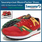サッカニー Saucony スニーカー メンズ ジャスト・ブレイズ パッカーシューズ グリッド SD Red/Green/Yellow カジノ(S70226-1 GRID CASINO)