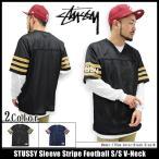 ステューシー STUSSY カットソー 半袖 メンズ Sleeve Stripe Football(stussy v-neck フットボールシャツ トップス 男性用 114821)