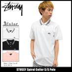 ステューシー STUSSY ポロシャツ 半袖 メンズ Spiral Collar(stussy polo トップス ピケ 鹿の子 メンズ・男性用 114900)