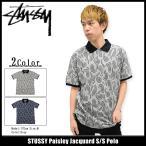 ステューシー STUSSY ポロシャツ 半袖 メンズ Paisley Jacquard(stussy polo ポロ トップス メンズ・男性用 114909)