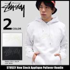 ショッピングstussy ステューシー STUSSY プルオーバー パーカー メンズ New Stock Applique(stussy Pullover Hoodie トップス 男性用 118232)