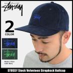 ステューシー STUSSY キャップ 帽子 Stock Velveteen Strapback Cap(ストラップバック メンズ・男性用 131735)