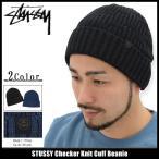 ステューシー STUSSY ニット帽 Checker Knit Cuff(stussy beanie ビーニー 帽子 ニットキャップ 男性用 132808)