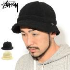 ステューシー バケット ハット STUSSY Sherpa Fleece Bell Bucket Hat 帽子 ( stussyhat シェルパ フリース 男性用 132993 USAモデル 正規 )