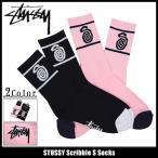 ステューシー STUSSY ソックス メンズ Scribble S(stussy socks ソックス 靴下 メンズ・男性用 138532 小物)
