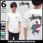 ステューシー STUSSY Tシャツ メンズ Surfman Check 17S 1904028