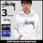 ステューシー STUSSY プルオーバー パーカー メンズ Checker Stock(stussy hooded sweat トップス ベーシック 男性用 1924055)
