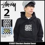 【送料無料】STUSSY Checkers Hooded Sweat