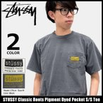 ステューシー STUSSY Tシャツ メンズ Classic Roots Pigment Dyed Pocket 1944039
