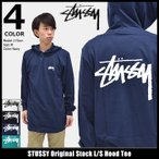ステューシー STUSSY カットソー 長袖 メンズ Original Stock(stussy Hood Tee トップス ロンt フード付きTシャツ 男性用 1984048)