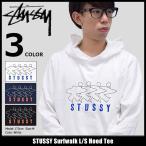 ステューシー STUSSY カットソー 長袖 メンズ Surfwalk(stussy Hood Tee トップス ロンt フード付きTシャツ 男性用 1984058)