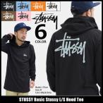 ステューシー STUSSY カットソー 長袖 メンズ Basic Stussy(stussy Hood Tee トップス ロンt フード付きTシャツ 男性用 1984105)