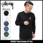 ショッピングstussy ステューシー STUSSY Tシャツ 長袖 メンズ S Box Crown(stussy tee カットソー トップス ロンt 男性用 1993939)