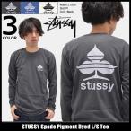 ステューシー STUSSY Tシャツ 長袖 メンズ Spade Pigment Dyed(stussy tee カットソー トップス ロンt 男性用 1994052)