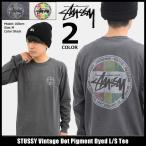 ステューシー STUSSY Tシャツ 長袖 メンズ Vintage Dot Pigment Dyed(stussy tee カットソー トップス ロンt 男性用 1994176)