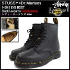 ショッピングstussy ステューシー STUSSY ブーツ レディース & メンズ ドクターマーチン 1460 8アイ ブラック/レオパード(stussy×Dr.Martens 338113 22083001)