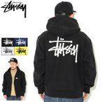 【33%OFF】STUSSY Basic Stussy Full Zip Hooded Sweat