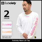 サブサエティ Subciety Tシャツ 長袖 メンズ ネオン(subciety Neon L/S Tee ロンt カットソー トップス)