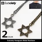 サブサエティ Subciety ネックレス メンズ ヘキサグラム メタル(subciety Hexagram Metal Necklace アクセサリー)