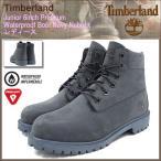 ティンバーランド Timberland ブーツ キッズモデル レディース対応 ジュニア 6インチ プレミアム ウォータープルーフ Navy Nubuck(A171S)