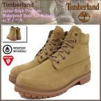 ティンバーランド Timberland ブーツ キッズモデル レディース対応サイズ ジュニア 6インチプレミアム ウォータープルーフ Tan Nubuck(A1730)