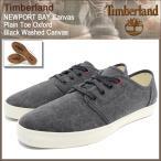 ティンバーランド Timberland スニーカー メンズ ニューポート ベイ キャンバス プレーントゥ オックスフォード Black Washed Canvas(A18CT)