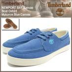 ティンバーランド Timberland スニーカー メンズ 男性用 ニューポート ベイ キャンバス ボート オックスフォード Mykonos Blue Canvas(A18E3)