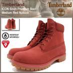 ティンバーランド Timberland ブーツ メンズ アイコン 6インチ プレミアム ミディアム レッド ヌバック(A1FXW 6inch Premium Boot Red 防水)