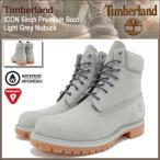 ティンバーランド Timberland ブーツ メンズ 男性用 アイコン 6インチ プレミアム ライト グレー ヌバック(A1GAU ICON 6inch Boot 防水)