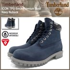 ティンバーランド Timberland ブーツ メンズ アイコン TPU 6インチ プレミアム ネイビー ヌバック(A1GEM TPU 6inch Premium Boot Navy 防水)
