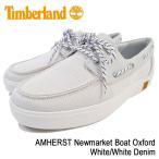 ティンバーランド Timberland スニーカー メンズ 男性用 アムハースト ニューマーケット ボート オックスフォード White/White Denim(A1HJ4)