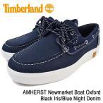 ティンバーランド Timberland スニーカー アムハースト ニューマーケット ボート オックスフォード Black Iris/Blue Night Denim(A1HJ5)