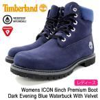 ティンバーランド Timberland ブーツ ウィメンズ アイコン 6インチ プレミアム Dark Evening Blue Waterbuck With Velvet(A1KC5 6inch Boot)